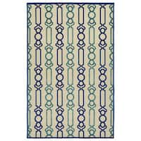 Indoor/Outdoor Luka Navy Mod Rug - 7'10 x 10'8