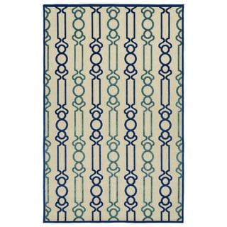 Indoor/Outdoor Luka Navy Mod Rug (8'8 x 12'0)