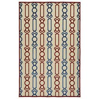 Indoor/Outdoor Luka Red Mod Rug - 8'8 x 12'