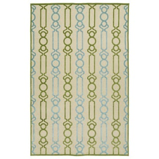 "Indoor/Outdoor Luka Green Mod Rug - 3'10"" x 5'7"""