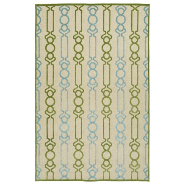 "Indoor/Outdoor Luka Green Mod Rug - 8'8"" x 12'"
