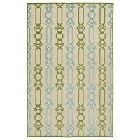 Indoor/Outdoor Luka Green Mod Rug - 7'10 x 10'8