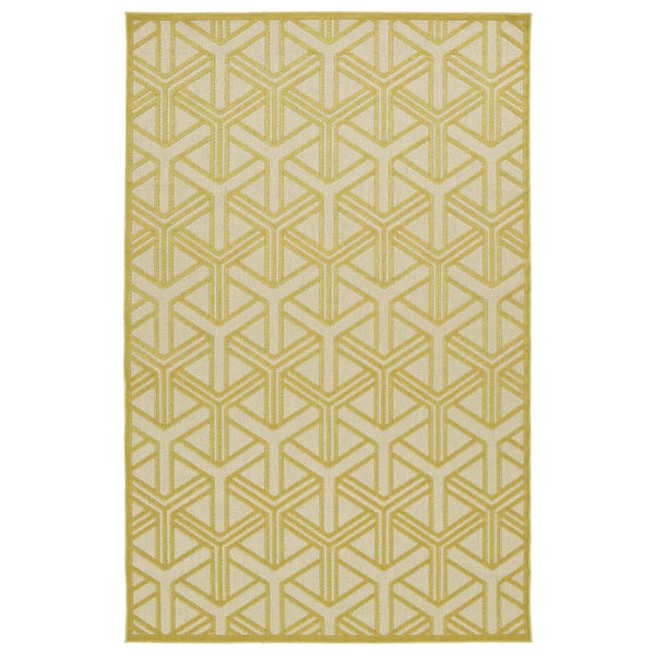 Indoor/Outdoor Luka Gold Dimensions Rug - 7'10 x 10'8