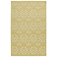 Indoor/Outdoor Luka Gold Dimensions Rug - 7'10 x 10'8