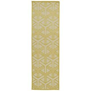 """Indoor/Outdoor Luka Gold Dimensions Rug - 2'6"""" x 7'10"""""""