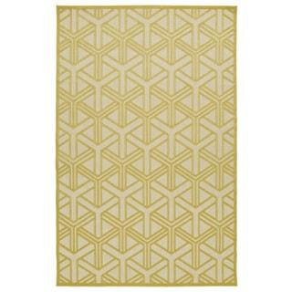 """Indoor/Outdoor Luka Gold Dimensions Rug - 3'10"""" x 5'8"""""""