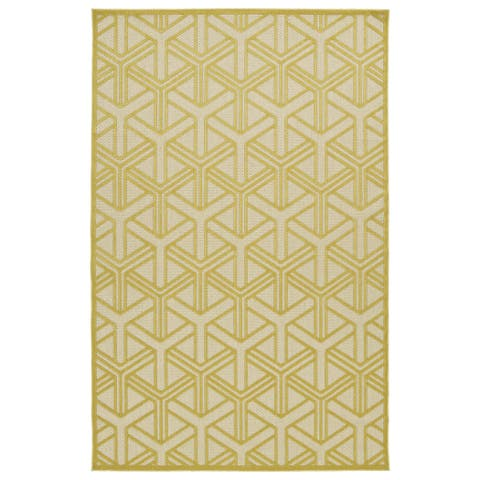 """Indoor/Outdoor Luka Gold Dimensions Rug - 5' x 7'6"""""""