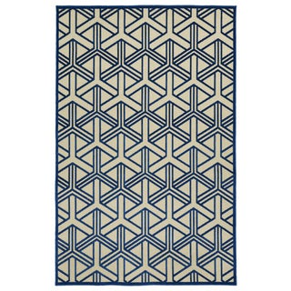 Indoor/Outdoor Luka Navy Dimensions Rug (5'0 x 7'6)