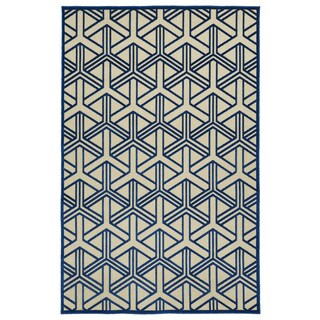 Indoor/Outdoor Luka Navy Dimensions Rug - 5' x 7'6""