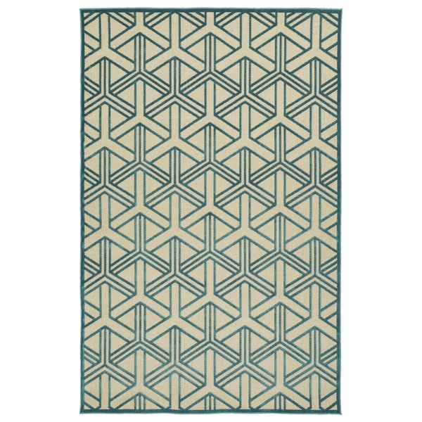 "Indoor/Outdoor Luka Blue Dimensions Rug - 8'8"" x 12'"