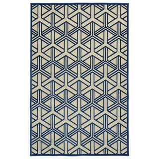 "Indoor/Outdoor Luka Navy Dimensions Rug - 2'1"" x 4'"