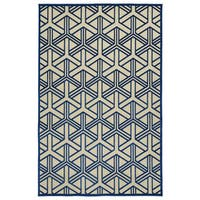 Indoor/Outdoor Luka Navy Dimensions Rug - 7'10 x 10'8