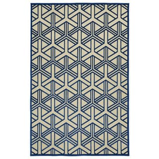 Indoor/Outdoor Luka Navy Dimensions Rug (8'8 x 12'0)