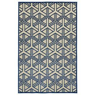 Indoor/Outdoor Luka Navy Dimensions Rug (8'8 x 12'0)