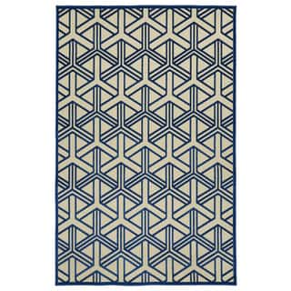 Indoor/Outdoor Luka Navy Dimensions Rug (8'8 x 12'0)|https://ak1.ostkcdn.com/images/products/10127577/P17265601.jpg?impolicy=medium