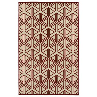 Indoor/Outdoor Luka Red Dimensions Rug (8'8 x 12'0)