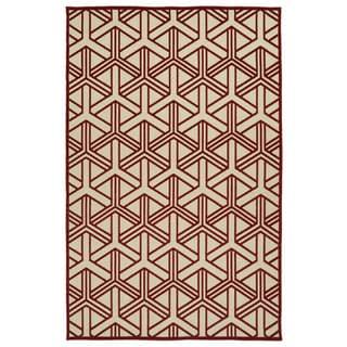 Indoor/Outdoor Luka Red Dimensions Rug (8'8 x 12'0)