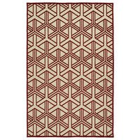 "Indoor/Outdoor Luka Red Dimensions Rug - 8'8"" x 12'"