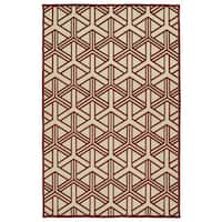"Indoor/Outdoor Luka Red Dimensions Rug - 3'10"" x 5'7"""