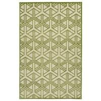 Indoor/Outdoor Luka Green Dimensions Rug - 7'10 x 10'8