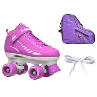 Epic Purple Galaxy Elite Quad Roller Skate 3 Piece Bundle|https://ak1.ostkcdn.com/images/products/10127643/P17265662.jpg?impolicy=medium