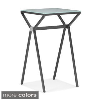 Glossy Black Chrome 36 Inch Bar Table 14335093