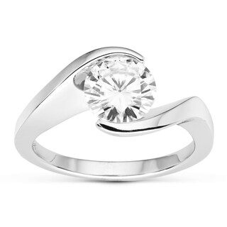 Charles & Colvard 14k Gold 1.50 TGW Round Forever Brilliant Moissanite Solitaire Ring