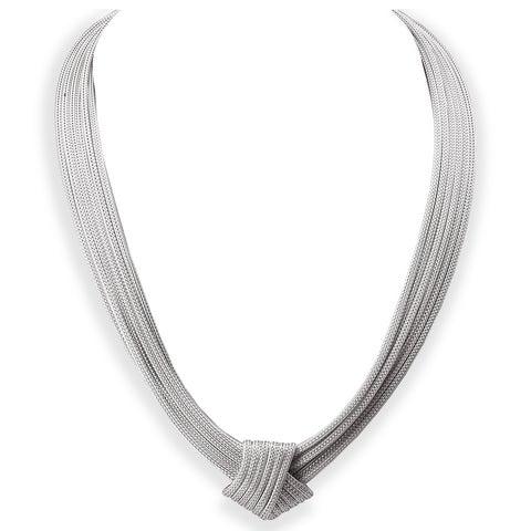 Avanti Sterling Silver Fancy Knot Necklace