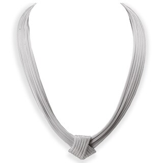 Avanti Sterling Silver Fancy Knot Necklace