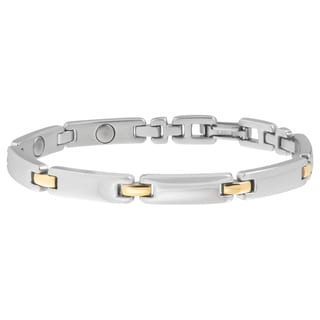 Sabona Lady Executive Silver Duet Magnetic Bracelet