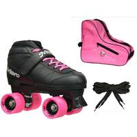 Epic Super Nitro Pink Quad Speed Roller Skates (3-piece Bundle)