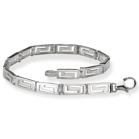 Avanti Sterling Silver Greek Key Link Bracelet