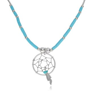 Journee Collection Sterling Silver Bead Dreamcatcher Pendant