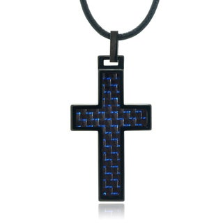 Vance Co. Men's Tungsten Cross Pendant