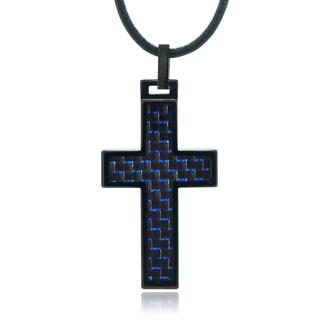 Vance Co. Men's Tungsten Cross Pendant