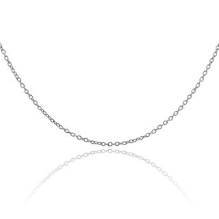 Vance Co. 18 Inch Surgical Steel Cable Chain Necklace (1.2mm)