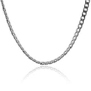 Vance Co. 24 Inch Stainless Steel Curb Link Cuban Chain Necklace