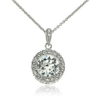 Crystal Ice Silverstone Swarovski Elements Round Necklace