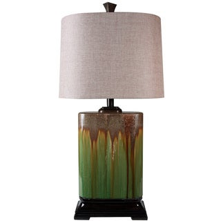 Link to StyleCraft Alton Green Dripping Glaze Ceramic Table Lamp Similar Items in Table Lamps