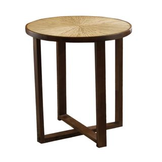 Frostproof Brown Round Dining Table