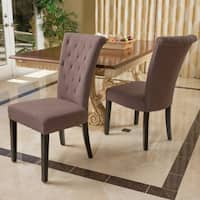 Charlotte Fabric Dining Chair (Set of 2) by Christopher Knight Home - N/A