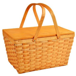 Picnic at Ascot Overland Traditional American Woven Picnic Basket