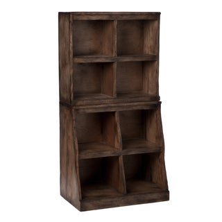 Lincoln Dark Brown Woodgrain 8-shelf Storage Case (Indonesia)