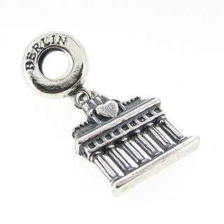 Queenberry Sterling Silver Germany 'Berlin' Brandenburg Gate Dangle European Bead Charm