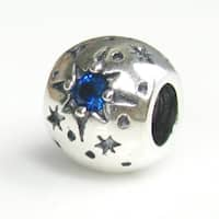 Sterling Silver 'Dreams Really Come True' Crystal Star European Bead