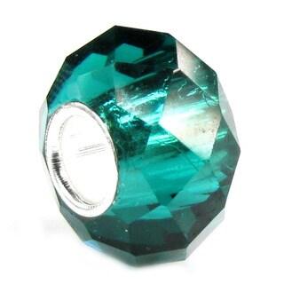 Queenberry Sterling Silver December Birthstone Zircon Blue Crystal European Bead Charm