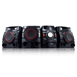 LG CM4550 Portable 700W 2.1-channel Bluetooth Audio DJ Red Lighting Boombox