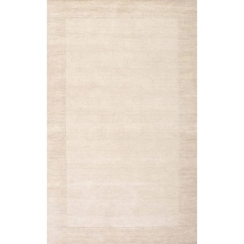 Porch & Den Jacques Handmade Solid Border Wool Area Rug