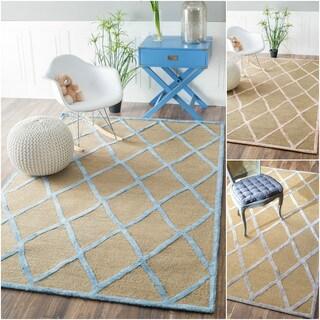 nuLOOM Handmade Wool/ Viscose Trellis Fancy Rug (7'6 x 9'6)