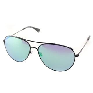 Emporio Armani Men's EA 2010 3001/31 Matte Black Metal Aviator Sunglasses